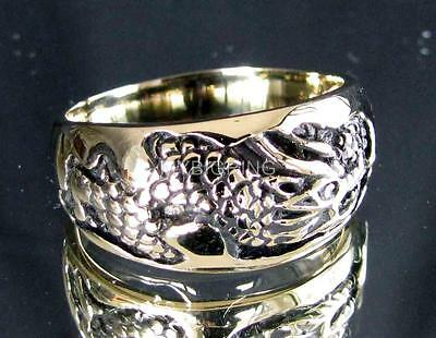 WEDDING BRONZE BAND RING DRAGON SNAKE SLAYER MEDIEVAL ANTIQUED ANY SIZE