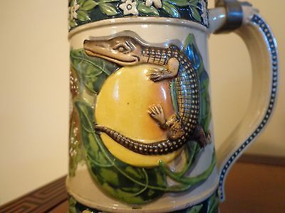 african american collectibles stein souvenier new orleans black boy alligator us
