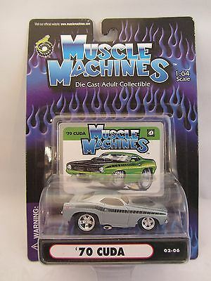 Muscle Machines   '70 Plymouth Barracuda  Lt Blue   1:64 scale  02-06  (12)