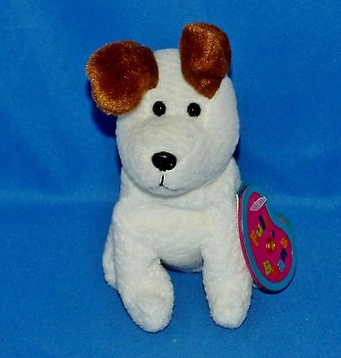 "Avon SCOUT 6"" Terrier Dog November Topaz Birthday Plush 1999 Full O'Beans"