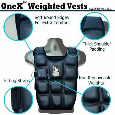 ONEX Weighted Flex Vest Jackets 5,10,12,14,16,20 KG Weight Loss Training Running
