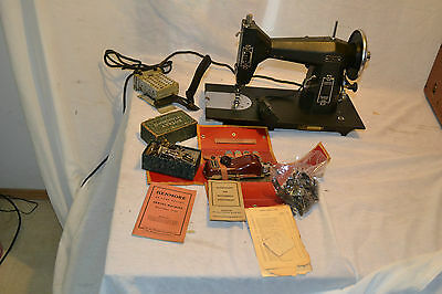 Antique Sears Kenmore Deluxe Rotary Heavy Duty sewing machine w/ Attahments