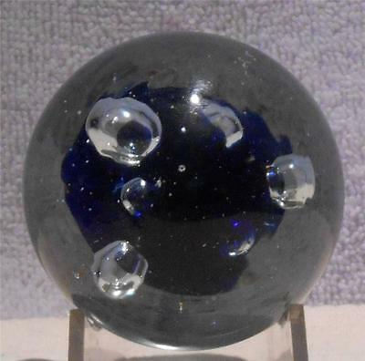Clearance -  Modern Chinese Glass Paperweight  Translucent Cobalt Blue Interior