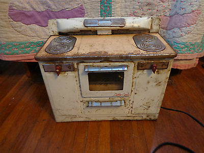 Vintage 1950s  Little Lady  EMPIRE Metal Electric Range Stove Oven - WORKING !
