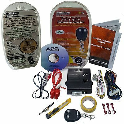 New BullDog Remote Auto Start Ignition Starter System Kit w/ Bypass Ford Models