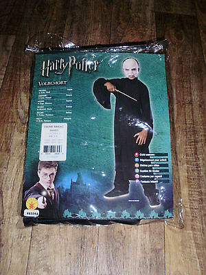 HARRY POTTER KIDS SIZE 4-6 VOLDEMORT DELUXE COSTUME WITH HOODED ROBE AND MASK