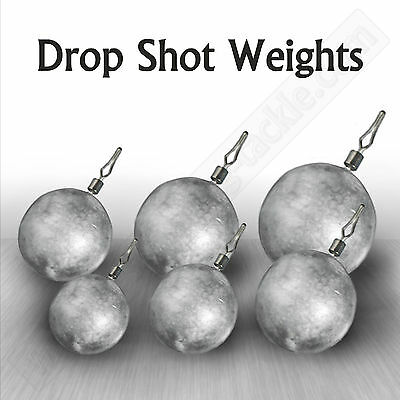 Drop Shot Weights Round Sinker Lead Coarse Perch Pike Fishing Tackle