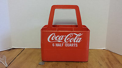 Coca-Cola Plastic Carrier 6 pack HALF QUART Bottle Carton COKE Soda