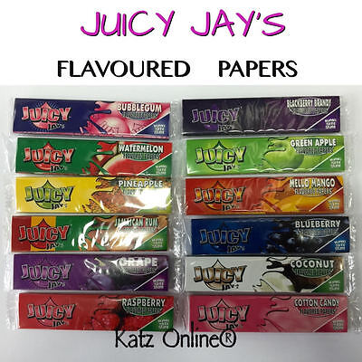 JUICY JAYS Flavored King Size Cigarette Rolling Papers Tobacco Paper Rizla Cig