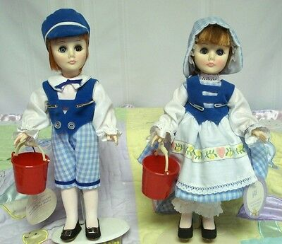JACK & JILL STORYLAND DOLLS BY EFFANBEE WITH BOXES, 11in.  MADE IN 1978