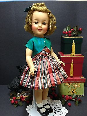 """*Original 19"""" Ideal Shirley Temple Doll In Her Rare Wee Willie Winkie Dress!*"""