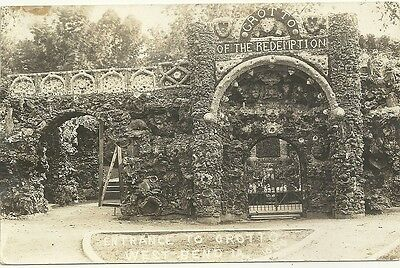 1909 RPPC ,West Bend , IA , Iowa, Entrance to Grotto of the Redemption