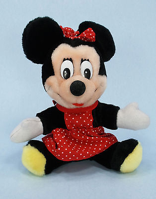 "Vintage Minnie Mouse 8"" Plush Toy Disneyland Walt Disney World Made in Korea"
