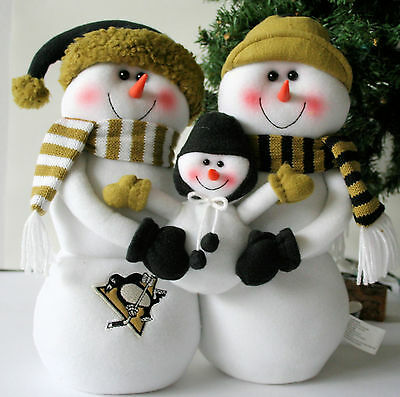 Pittsburgh PENGUINS Plush SNOWMAN FAMILY - Winter - Christmas - Holiday - NEW !