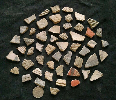 Anasazi Indian Pottery Shards ( 50 shards in lot )  New Mexico