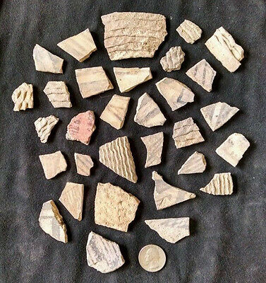 Anasazi Indian Pottery shards ( 30 shards in lot )  New Mexico