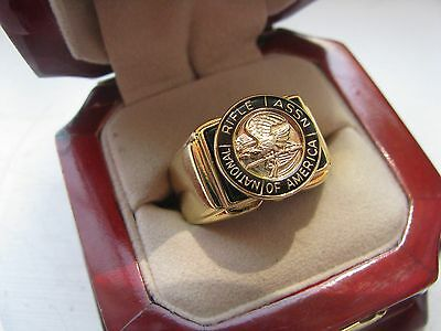 """NEW! Gents """"National Rifle Association"""" CREST Ring *"""