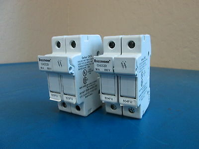 Lot of 2 Cooper Bussmann P/N# CHCC2D 2 POLE FUSE HOLDER 600V 30A