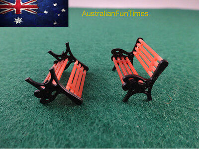 Ho Scale 1:87 Lot Of 5 X Park Bench Seat / Chairs New Seats Australia Project Oz