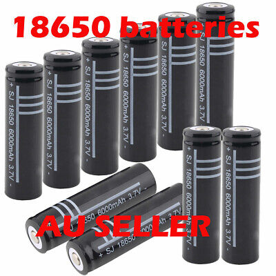 18650 3.7V Black Li-ion Rechargeable Battery for Flashlight Torch