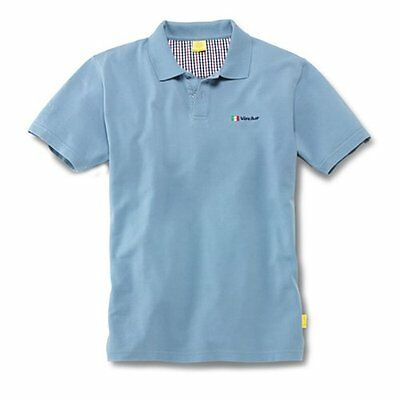 Mens Blue Grey Polo T Shirt 'Vocho Mexico' Genuine Volkswagen Beetle Collection