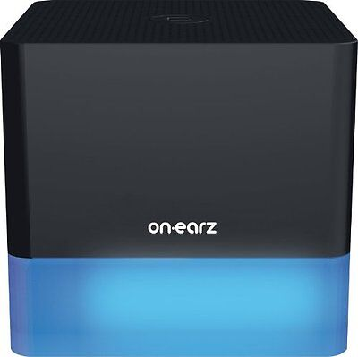 On Earz Black Wireless Speaker with Bluetooth and 7 Colour LED Mood Light