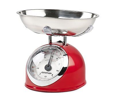 G3 Ferrari Mechanical Kitchen Scales  All metal construction  Red Chrome finish