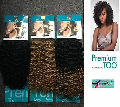 Sensationnel Premium Too Jerry Curl 100% Human Hair Weave 12inch UK AUTHORIZED