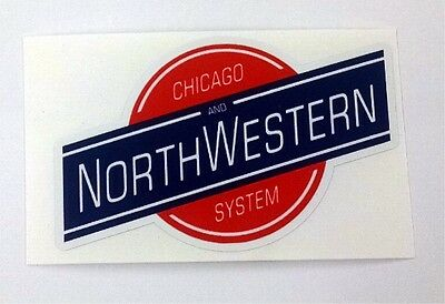Chicago Northwestern Railway Railroad sticker decal
