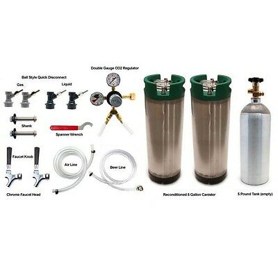 Two Tap Refrigerator Conversion Kit for Homebrew - Beer Making Draft Kegerator