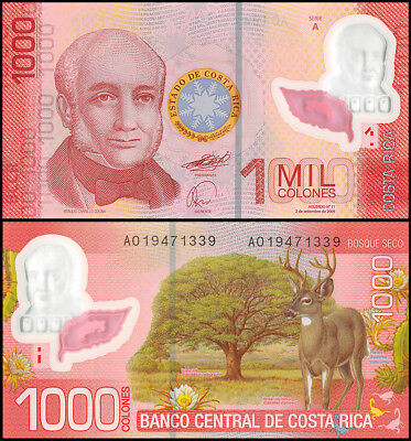 Costa Rica 1,000 (1000) Colones, 2009, P-274, UNC, Series A