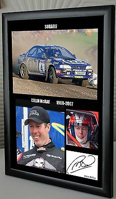 """Colin McRae Rally Legend Framed Canvas Print Signed """"Great Gift or Souvenir"""""""