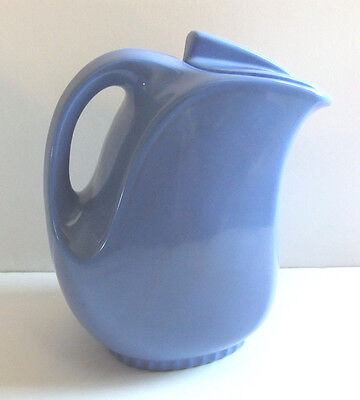 VINTAGE COUNTRY BLUE 1940's HALL CHINA WATER PITCHER & LID MONTGOMERY WARD #5118