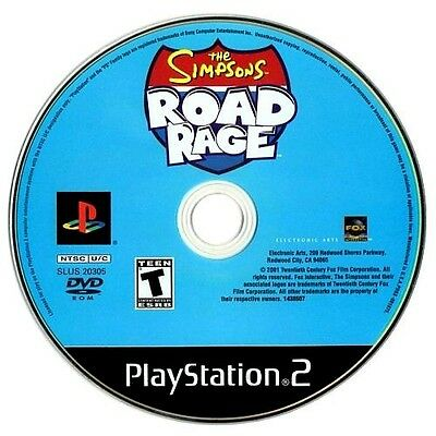 The Simpsons Road Rage PlayStation 2 Sony PS2 2001 (Game Disc Only)