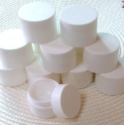 LOT6 Cosmetic White Plastic Container Cream Jar Ointment 5/10/15/20/30/50 ML