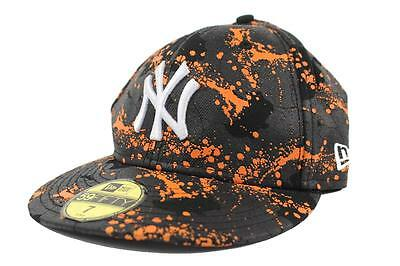 New Era 59Fifty MLB New York Yankees Splatter Paint Coated Fitted Wool Hat - 7