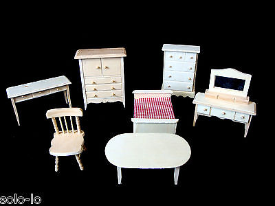 7 Pieces Doll House Wooden Toy  Furniture New