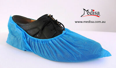 Disposable Plastic Shoe Covers Overshoes Waterproof Pkt of 100/200/300/400 PC