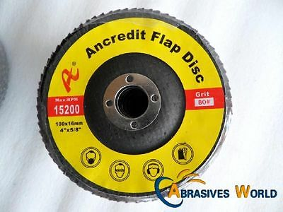 "20 X 100mmX16mm  4"" Flap Sanding Grinding Polishing Wheels Discs for all metal"