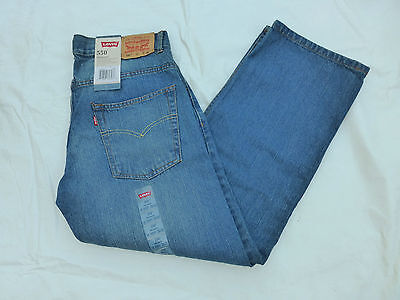 Nwt Boys Levis 550 Relaxed Fit Jeans $42 Clean Crosshatch 91*550-951