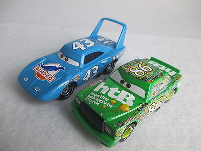 Disney Pixar Cars Lot 2 The King Strip Weathers & Chick Hicks 1/55 Diecast