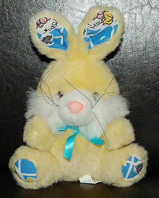 "Circus Circus Las Vegas/Reno yellow Bunny Rabbit 8"" plush stuffed toy guc"