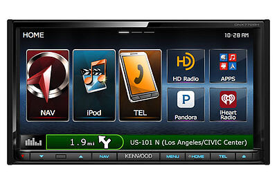 """Kenwood DNX772BH 6.95"""" DVD Receiver w/ Navigation Bluetooth and HD Radio New"""