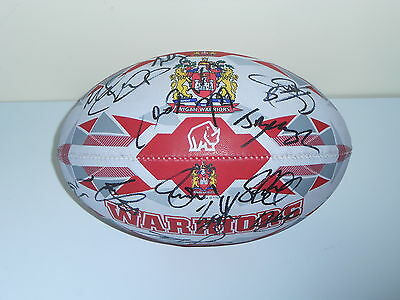 Wigan Warriors 2015 Squad Signed Rugby Ball 18 Autographs!