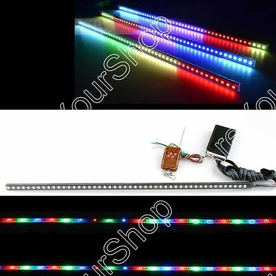 "24"" 7-Color 5050 LED 48SMD Remote Colorful Knight Rider Strip lights Grille AY"