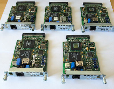 5x Cisco WIC-1ADSL (Job Lot of 5) WAN Interface Card  for Cisco CCNA CCNP CCIE