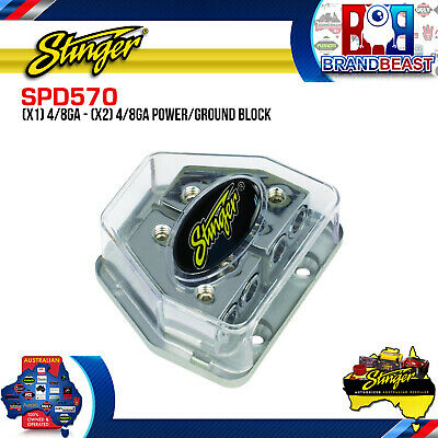 New Stinger Spd570 Hpm 4 / 8 Gauge Power And Ground Amp Wire Distribution Block
