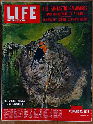 VINTAGE RETRO ! OCT 13th, 1958  LIFE INTERNATIONAL MAGAZINE