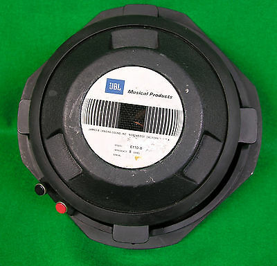 """JBL E110-8 75W 8 Ohm 10"""" Guitar / Audio Speaker Fully Tested, See Photos - 21744"""