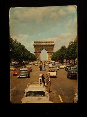 Paris Arc de Triomphe France 1966 real photo 5.75x4